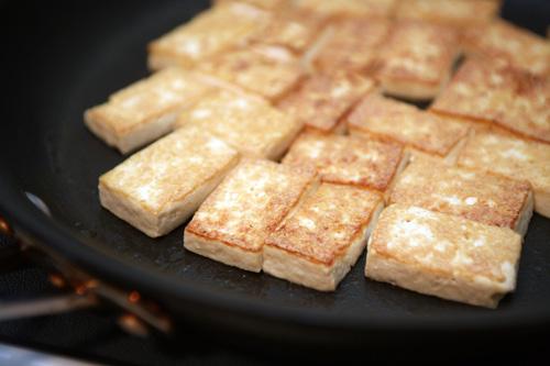 tofu after first flip